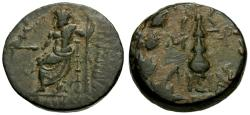 Ancient Coins - VF/VF Cilicia, Tarsos Æ17 / Zeus / Club