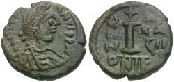Ancient Coins - *Sear 205* Justinian I (AD 527-565) Æ Decanummium
