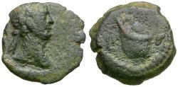 Ancient Coins - Trajan (AD 98-117). Egypt. Alexandria Æ Dichalkon / Skhent