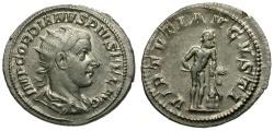Ancient Coins - Gordian III.  AR Antoninianus / Hercules