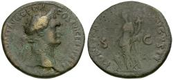 Ancient Coins - Domitian (AD 81-96) Æ AS / Fortuna