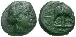 Ancient Coins - Thrace. Apollonia Pontika Æ Dichalkon / Anchor and Crayfish