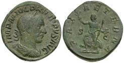 Ancient Coins - Philip I (AD 244-249) Æ Sestertius / Pax
