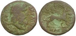 Ancient Coins - Ionia. Smyrna. Pseudo-Autonomous Issue Æ19 / Griffin