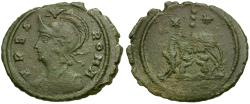 Ancient Coins - Constantinople Commemorative Issue Æ3 / Wolf and twins