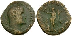 Ancient Coins - Maximius I Æ Sestertius / Victory