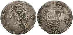 World Coins - Spanish Netherlands. Philip IV AR Patagon