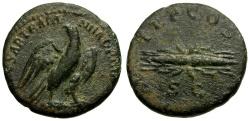 Ancient Coins - Hadrian Æ Semis / Eagle and Thunderbolt