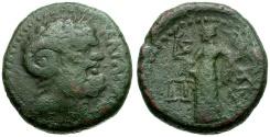 Ancient Coins - Sicily. Katane Æ22 / Zeus Ammon