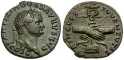 Ancient Coins - Domitian as Caesar AR Denarius / Clasped Hands
