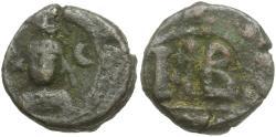 Ancient Coins - *Sear 855* Byzantine Empire. Sasanian Occupation of Alexandria. Time of Heraclius. Khusro II Æ 12 Nummi