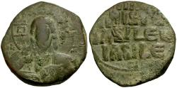 Ancient Coins - *Sear 1818* Byzantine Empire. Anonymous. Class A3 Follis / Portrait of Christ