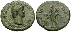 Ancient Coins - Nero (AD 54-68) Æ AS / Genius