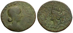 Ancient Coins - Tranquillina. Mesopotamia. Edessa Æ30 / Tyche