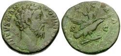 Ancient Coins - Divus Marcus Aurelius Æ Sestertius / Riding Eagle
