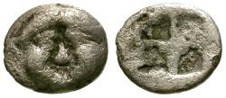 Ancient Coins - aVF/aVF Macedon, Neapolis AR Obol / Gorgon