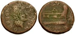 Ancient Coins - F/aVF Spain Arse-Saguntum Sagunto (Valencia) AE30 / Prow