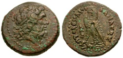 Ancient Coins - Ptolomaic Kings of Egypt. Ptolemy II Philadelphos Æ20 / Club