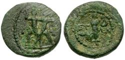 Ancient Coins - Pisidia. Etenna Æ14 / Woman Holding Serpent