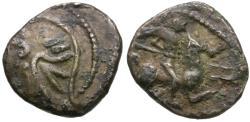 Ancient Coins - Ancient France. Celtic Gaul. Allobroges Tribe Æ/AR Fouree Quinarius