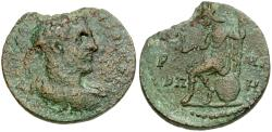 Ancient Coins - Trebonianus Gallus. Pontus. Neocaesarea Æ28 / Roma Seated