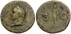 Ancient Coins - Titus (AD 79-81) Æ Sestertius / Spes