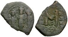 Ancient Coins - *Sear 811* Byzantine Empire. Heraclius (AD 610-641) with Heraclius Constantine and Heraclonas Æ Follis