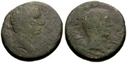 Ancient Coins - Augustus, with Tiberius, Macedon Thessalonica Æ23