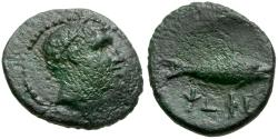Ancient Coins - Arkadia. Psophis Æ Chalkous / Fish