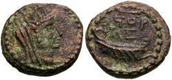 Ancient Coins - Judaea. Askelon. Pseudo-Autonomous Issue Æ16 / Galley