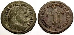 Ancient Coins - VF/VF Maximianus as Augustus Æ Follis / Carthage