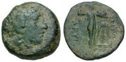 Ancient Coins - gF/gF Seleukid Kings of Syria, Seleukos I Nikator Æ20 / Apollo / Athena