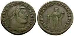 Ancient Coins - Diocletian Æ Follis / Sacra Moneta