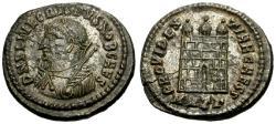 Ancient Coins - EF/EF Crispus Caesar Æ3 / Camp gate