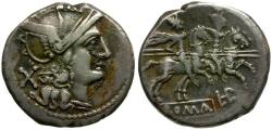 Ancient Coins - 189-180 BC - Roman Republic. Anonymous AR Denarius / LPLH