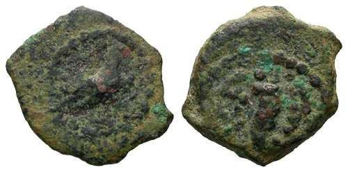 Ancient Coins - VF/VF Herod the Great Prutah / Graven Image
