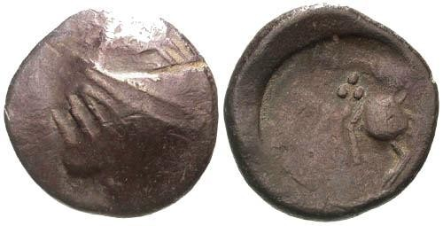 Ancient Coins - F/F Danubian Celtic Copy Coinage of Philip II of Macedon