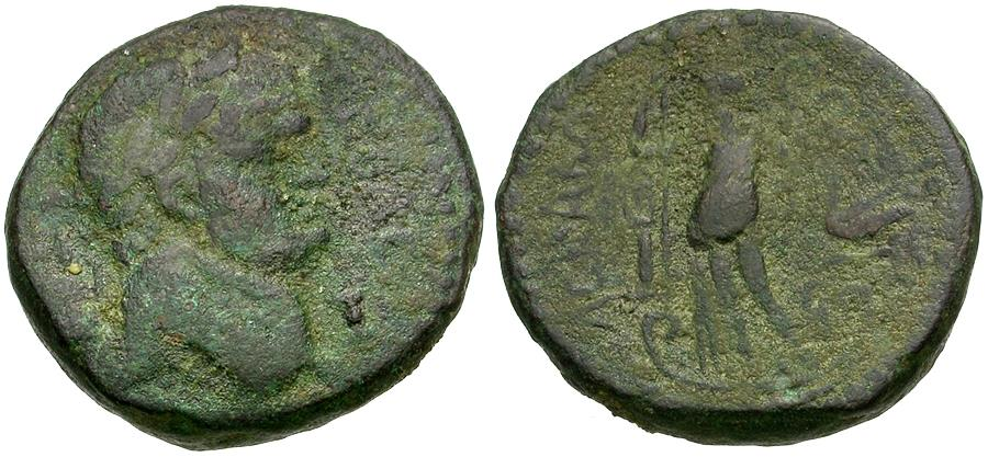 Ancient Coins - Domitian (AD 81-96). Judaea. Ascalon Æ24 / Tyche