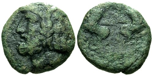 Ancient Coins - gF/aF Macedon Thessalonika AE17 / Centaurs