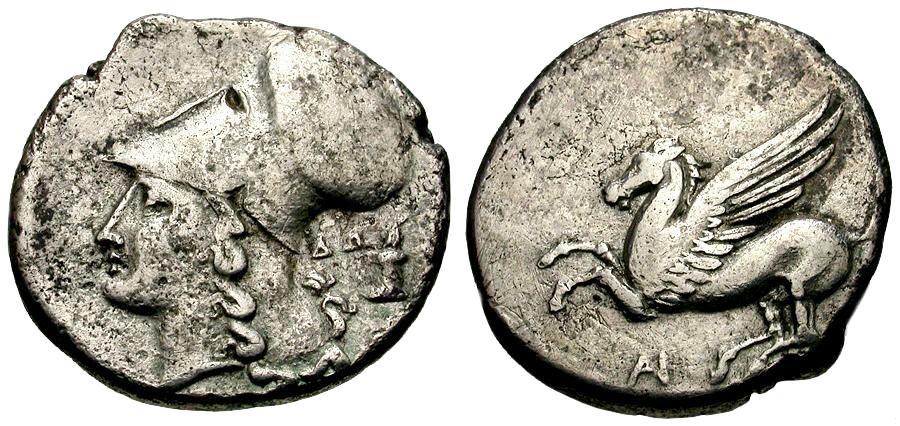 Ancient Coins - Akarnania.  Anaktorion AR Stater / Pegasus