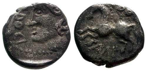 Ancient Coins - VF/VF Sequani Silver Unit / Q DOCI