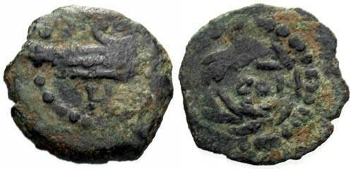 Ancient Coins - Herod Archelaus Prutah / Prow