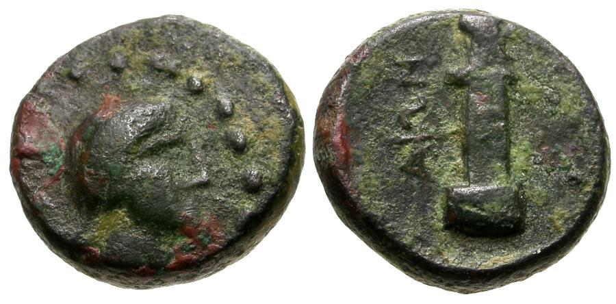 Ancient Coins - Crete.  Aptera Æ12 / Herm
