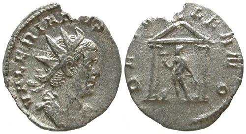 Ancient Coins - VF/VF Valerian AR Antoninianus / Vulcan