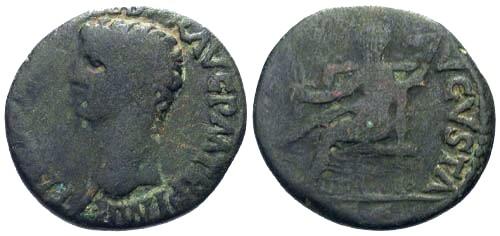 Ancient Coins - gF/F Claudius AE Dupondius / Ceres