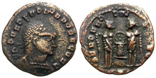 Ancient Coins - VF/VF Constantine the Great AE3 Barbarous Imitation
