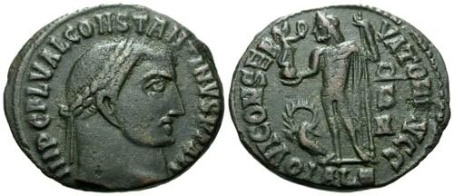 Ancient Coins - aVF/aVF Constantine I the Great AE3 / Jupiter