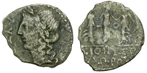 Ancient Coins - F/F Illyria Apollonia AR Drachm / Apollo / Three Nymphs