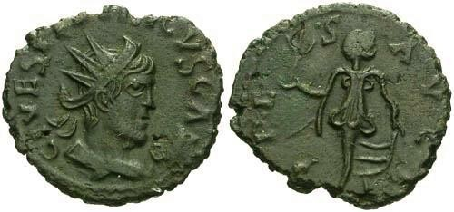 Ancient Coins - EF/EF Tetricus II Antoninianus / Unlisted in RIC