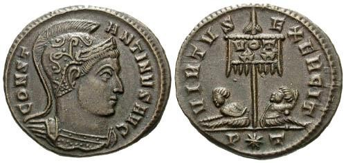 Ancient Coins - VF/VF Constantine I the Great AE3 / Seated captives